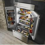 """Kitchenaid 24.2 Cu. Ft. 42"""" Width Built-In Panel Ready French Door Refrigerator with Platinum Interior Design - Panel Ready PA"""