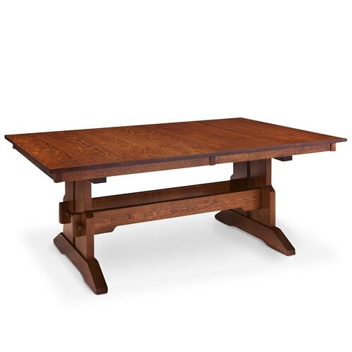 """Simply Amish - Franklin Trestle Table, 42'w x 80'l / Four 12"""" Leaves"""