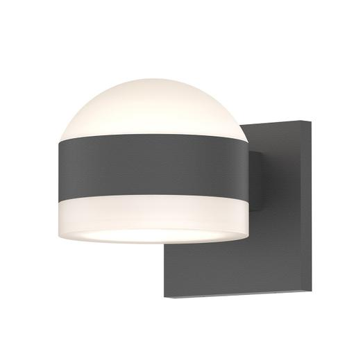 Sonneman - A Way of Light - REALS® Up/Down LED Sconce [Color/Finish=Textured Gray, Lens Type=Dome Lens and White Cylinder Lens]