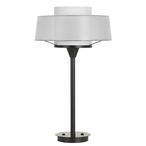 100W Pana Metal Table Lamp With Translucent Shade And 2 USB Ports