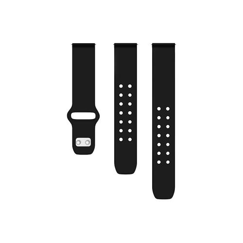 Quick Change Silicone Sport Watch Band (22mm) Black