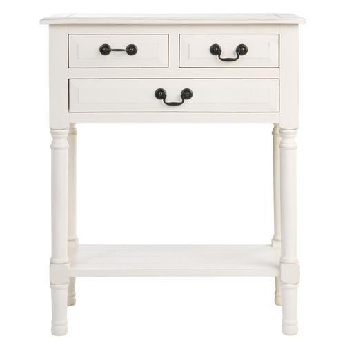 Safavieh - Primrose 3 Drawer Console Table - Distressed White