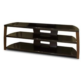"60"" Wide Stand, Solid Wood Walnut Finish Accents, Easy Assembly, Accommodates Most 65"" and Smaller Flat Panels"