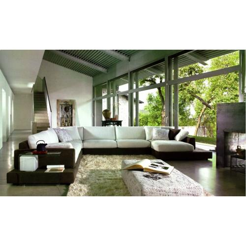 Divani Casa 2616 - Modern Fabric Sectional Sofa