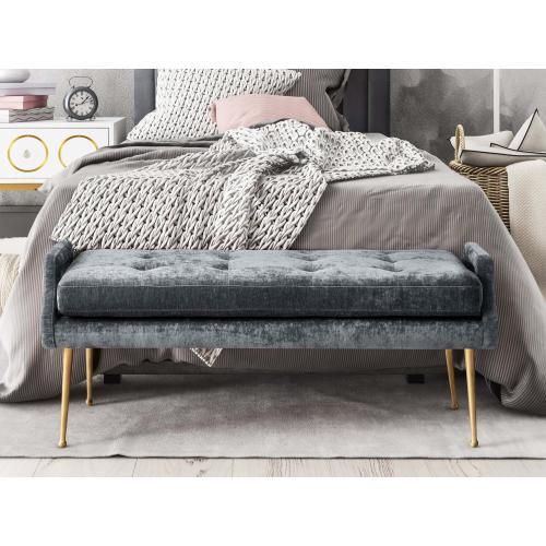 Tov Furniture - Eileen Grey Slub Velvet Bench