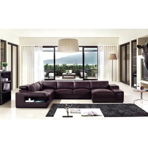 Divani Casa T132V Modern Brown Bonded Leather Sectional Sofa
