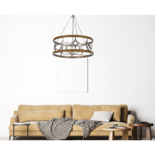 60W x 5 Abingdon lazer cut metal chandelier
