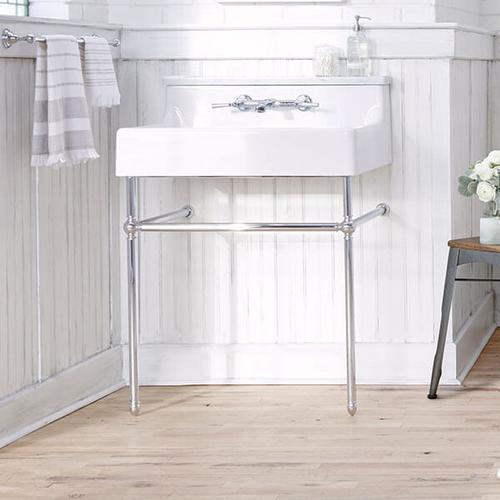 Dxv - Oak Hill Console Sink - Canvas White / Polished Chrome