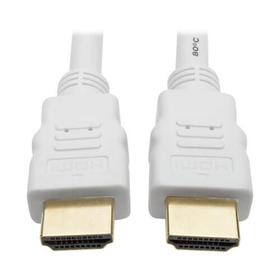 High Speed HDMI Cable, Digital Video with Audio, UHD 4K (M/M), White, 10 ft.