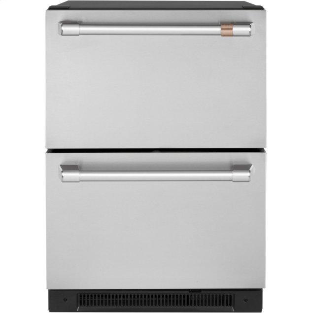 Cafe Appliances 5.7 Cu. Ft. Built-In Dual-Drawer Refrigerator