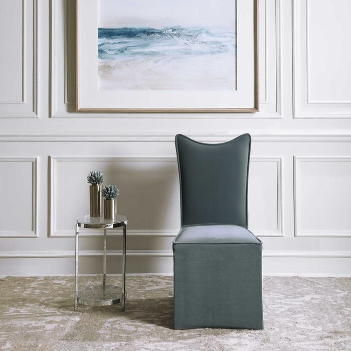 Uttermost - Delroy Armless Chair, Gray, 2 Per Box
