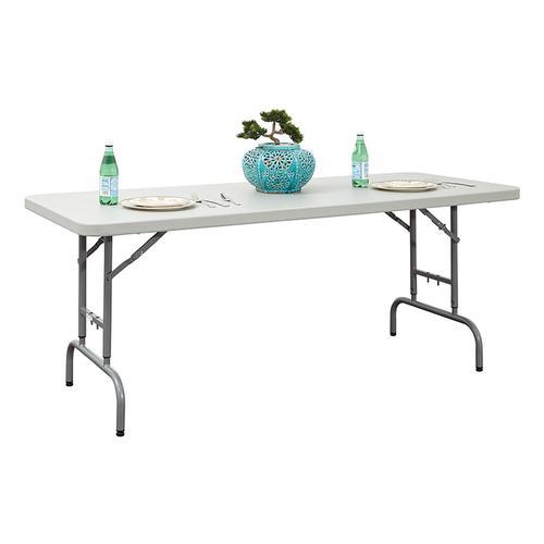 Office Star - 6' Height Adjustable Resin Multi Purpose Table