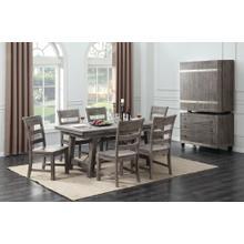 Dakota Dining Table & 6 Chairs Reclaimed Pine