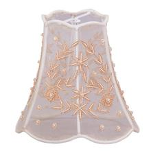 """See Details - 5"""" Pearl Beaded Shade on Taupe Silk"""