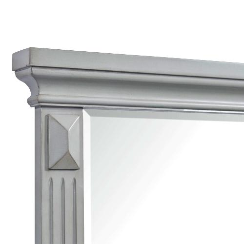 Calloway 7-Drawer Dresser w/ Mirror Set in Grey