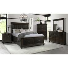 See Details - Slater Black Queen Bedroom Set: Queen Bed, Nightstand, Dresser & Mirror