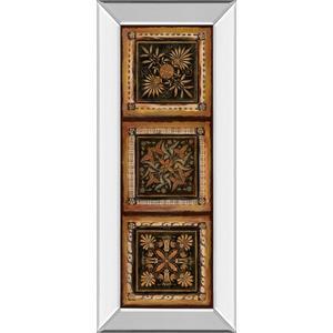 """""""Folk Art Panel I"""" By Tava Studios Mirror Framed Print Wall Art"""