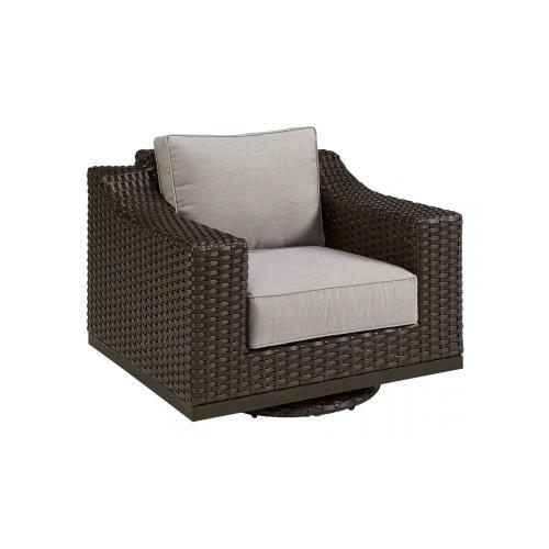 Brannon Outdoor Swivel Club Chair