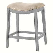 Grover KD Fabric Counter Stool Ash Gray Frame, Lyon Cream