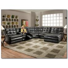 See Details - On Sale - 6Pc Sectional as picutred -Includes From Left to right - Left arm Recliner, Console, armless recliner, wedge, armless chair and Reclining chaise.