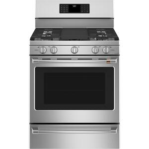 "CAFE30"" Smart Free-Standing Gas Range with Convection"
