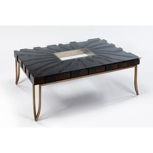 """Artmax - Coffee Table with Glass 55x35.5x19"""""""
