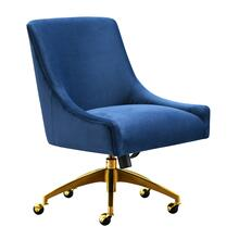 View Product - Beatrix Navy Office Swivel Chair