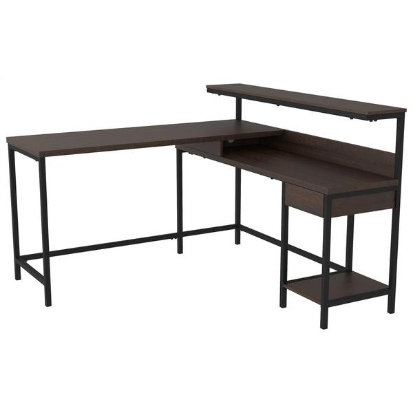 See Details - Camiburg Home Office L-desk With Storage