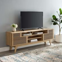 """See Details - Render 71"""" Media Console TV Stand in Oak"""
