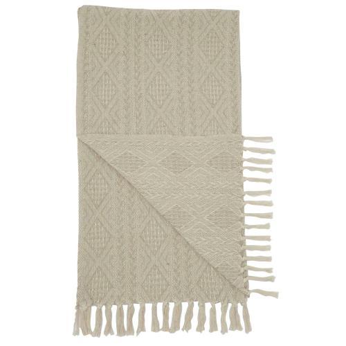 Throw St142 Natural 50 X 60 Throw Blanket