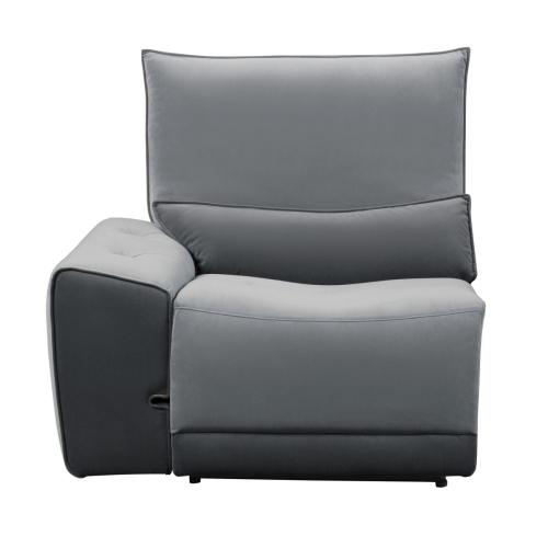 Power Left Side Reclining Chair with Adjustable Headrest