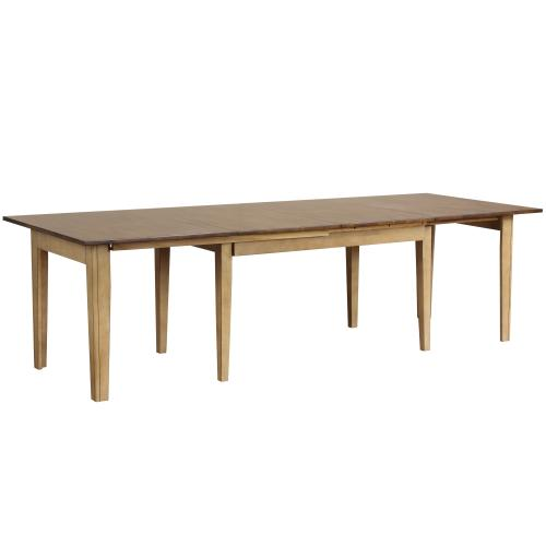 """Rectangular Extendable Dining Table - 134"""""""