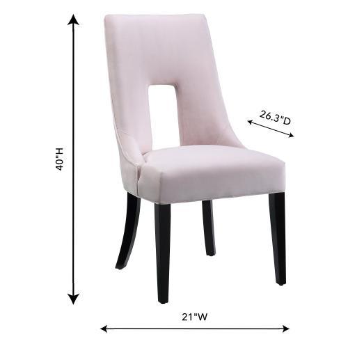 Lipstick Blush Velvet Dining Chair