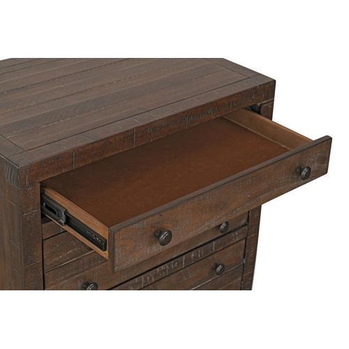 Edinburg 3-Drawer Nightstand, Brown