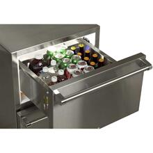 "24"" Marvel Outdoor Refrigerated Drawers - Solid Stainless With Lock"