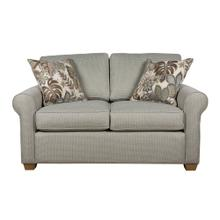 """See Details - Loveseat, 2-1/2"""" Pyramid legs available in Caramel, Black Cherry, Frost, Driftwood or Walnut"""