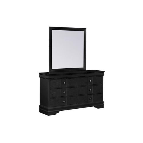 Wave Black Dresser