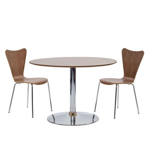 Ernie Dining Side Chair in Walnut