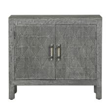 Two Door Carved Accent Chest