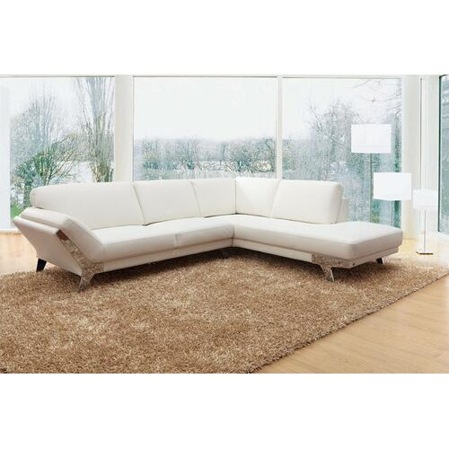 Divani Casa Lidia - Modern White Italian Leather Sectional Sofa
