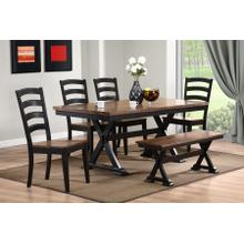 Cambridge 6 Piece Dining - Table, 4 Side Chairs and Bench