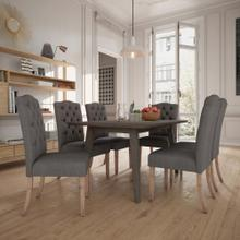 Ashland/Lucian 7pc Dining Set, Grey/Grey