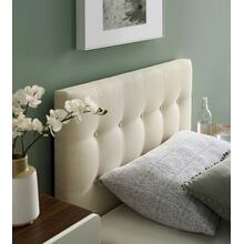 View Product - Emily Twin Upholstered Fabric Headboard in Ivory