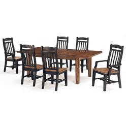 Slat Back Arm Chair (black/whiskey)