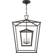 Visual Comfort CHC2179AI E. F. Chapman Darlana 4 Light 24 inch Aged Iron Foyer Lantern Ceiling Light