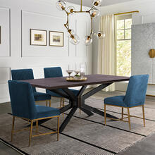 Pirate and Blue Memphis 5 Piece Modern Dining Set