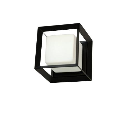 1lt Wall Sconce, Mb Finish W/ White Glass