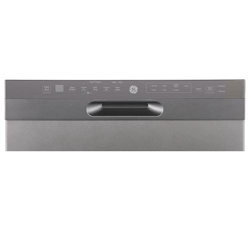 """GE 24"""" Built-In Front Control Dishwasher with Stainless Steel Tall Tub Slate - GBF655SMPES"""