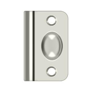 Strike Plate for Ball Catch and Roller Catch - Polished Nickel