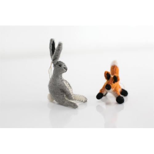 """4"""" E+E Felt Ornament (Hare Option)"""
